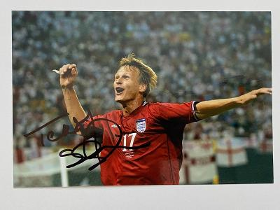 Autogram - Teddy Sheringham -  Anglie, Manchester United