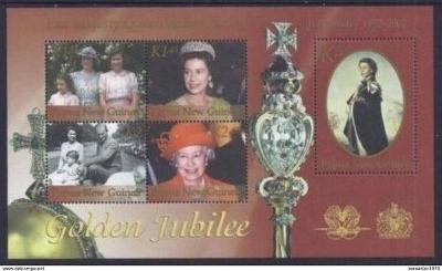 Papua Nová Guinea 2002 Královna Alžběta II. Mi# Block 20 Kat 11€ 0500