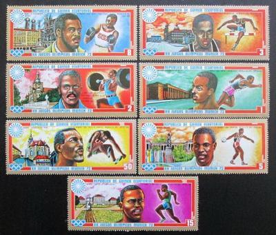 Rovníková Guinea 1972 LOH Mnichov Mi# 81-87