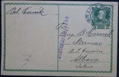 Celina (korespondenční lístek) z roku 1916