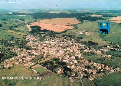 Moravský Beroun, letecký snímek