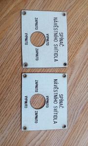 Staré vlakové štítky