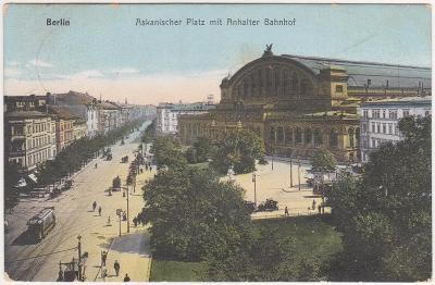 Německo, Berlín (nádraží) - prošlá 1914
