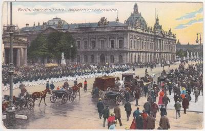 Německo, Berlín (lidé, vojsko) 1914