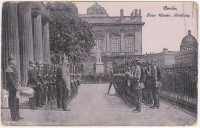 Německo, Berlín (stráž, vojsko) 1912