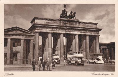 Německo, Berlín (doprava, autobusy) 1938