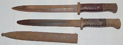 vraky dvou bajonetů S84/98