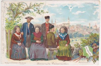 Německo, Bavorsko (lidé, kroje) - prošlá 1899