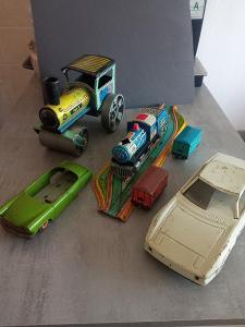 Staré Plechové hračky 5 ks !!!!