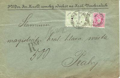 RAKOUSKO - r.1886, Ferchenbauer 280 eur(3+3+5), místní reko!, lom