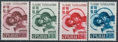 Deutsches Reich - WWII OKUPACE SERBIEN / SRBSKO - Mi. 54 - 57 II **