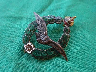 RU vojenský letecký odznak 1913- PILOT, značený ZIMBLER WIEN! TOP STAV