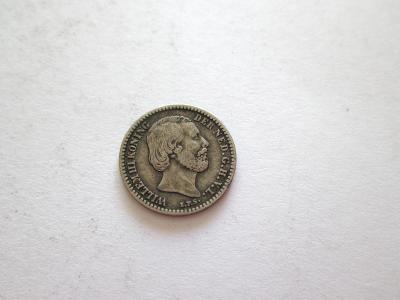 Stříbrný 10 cent 1879 - Holandsko