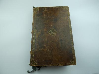 Kniha z r. 1653 - Missale Romanum - kožená vazba