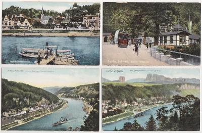 Německo, Saské Švýcarsko (16 ks, barevné) 1914-1920