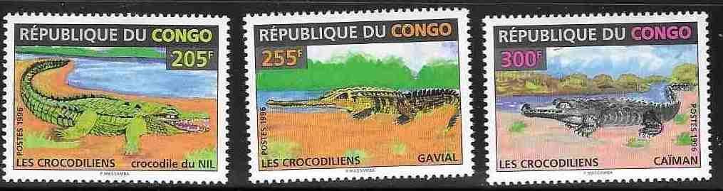 Kongo Brazaville **1986 Krokodýli