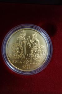 Zlatá mince k  800. výročí vydání ZLATÉ BULY SICILSKÉ , BK