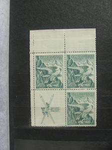 ** LH čtyřblok 331K - Zimní sletové sokolské hry 1937 - H-ČSR I.