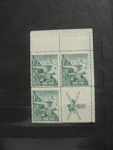 ** PH čtyřblok 331K - Zimní sletové sokolské hry 1937 - H-ČSR I.