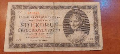 Bankovka 100 koruna