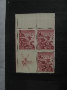 ** LH čtyřblok 332K - Zimní sletové sokolské hry 1938 - H-ČSR I.