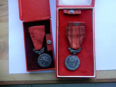 Konvolut medaile Za zásluhy o obranu vlasti, I- II. vydání, stříbro, p