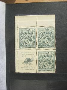 ** LH čtyřblok 337K - 20. výročí bojů čs. legií u Bachmače - H-ČSR I.