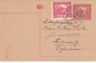 CDV 18, o.s., dofr. Hradčany, Hostinné 12.10.1920 (Trutnov)-Litoměřice