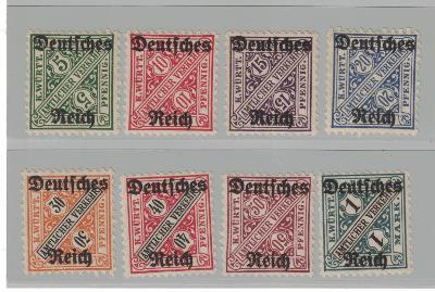 Doplatní Deutsches Reich Mi57-64 **svěží**  sestava 70€