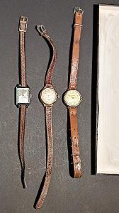 3 X Staré dámské hodinky jedny jsou ve stříbře