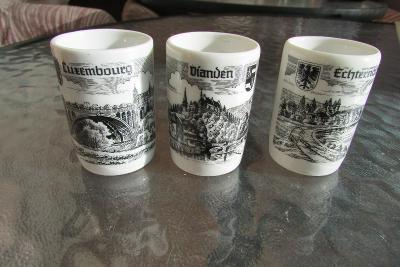 3x porcelánový kalíšek z Německa -  6*3,5 cm