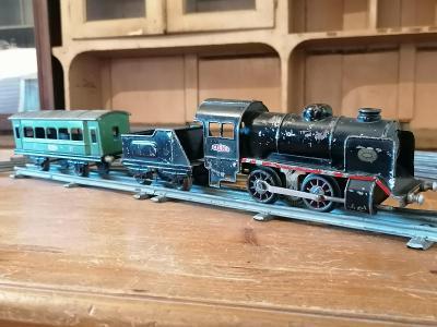 Stará lokomotiva, vagón, koleje, trafo - MINOR, hračka, vlak