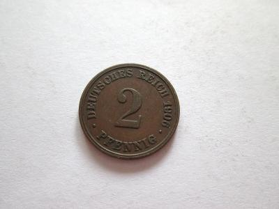 2 pfennig, 1906 D- Německo