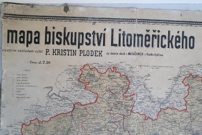 Kristin Plodek - Diecézní mapa -Biskupství Litoměřice (poškozená)