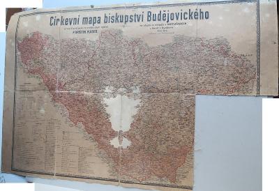Kristin Plodek - Diecézní mapa -Biskupství České Budějovice (poškozená
