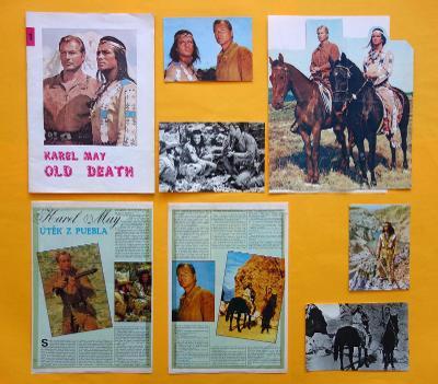 Karel May - Old Death 1990 + Útěk z puebla + 4x filmové foto + bonus