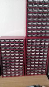 3 x Mars organizér - elektronické součástky