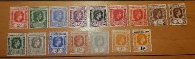 britské Leewardove o. 1938 * George VI komplet po 6p mi.87-100+odtiene