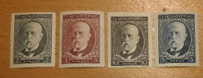 ČSR 1930 ** Masaryk komplet Pof. 261-264