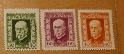 ČSR 1925 ** Masaryk komplet Pof. 187-189