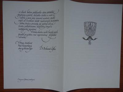 Bohumír Lifka /1900-1987 /.....dopis p.Zinkovi-1927 + poděkování-1970