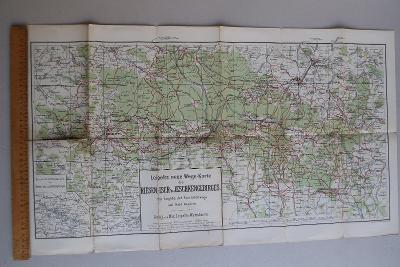 Mapa Jizerské hory a Krkonoše - okr. Liberec, Jablonec, Semily