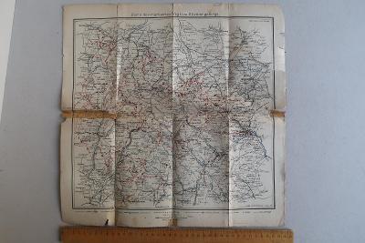 Turistická mapa značených cest - Jeseníky (okresy Bruntál, Šumperk)