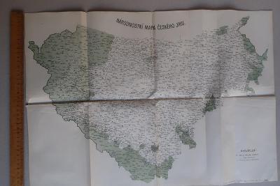 Jižní, západní Čechy a Šumava, národnostní mapa českého jihu
