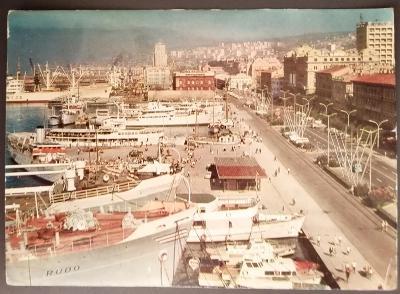 Retro pohlednice z Jugoslávie - Rijeka 1965