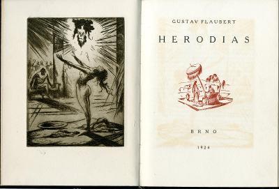 Jan Konůpek: 3x lept in: G. Flaubert: Herodias 1924; Arno Sáňka; čísl.