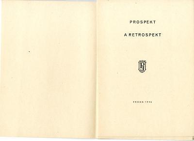 Jaroslav Picka: Prospekt a retrospekt (1946; Konůpek; bibliofilie)