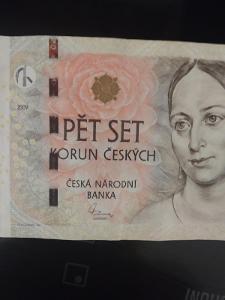 Bankovka 500kc,,,E 04,,,2009