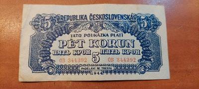 Bankovka 5kč  1944