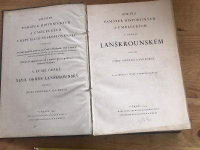 SOUPIS PAMÁTEK HISTORICKÝCH A UMĚLECKÝCH V OKR. LANŠKROUNSKÉM 1935